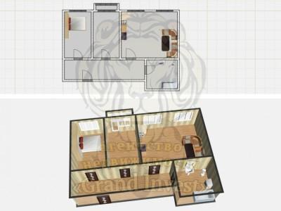 3-х комнатная квартира в Новостройке на ХБК